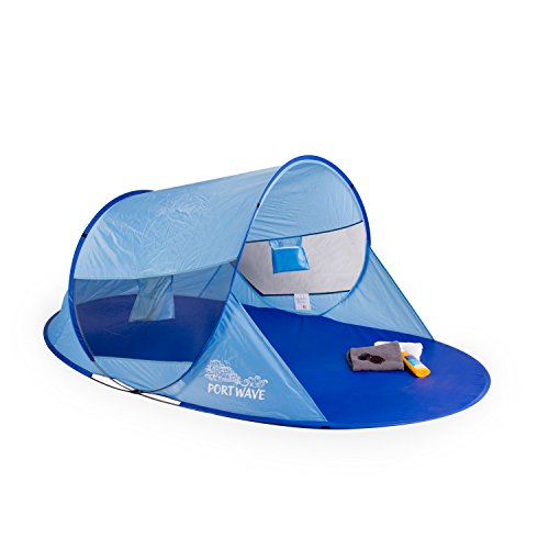 Pop up Strandmuschel Arielle, Portwave, UV-Schutz 60, blau