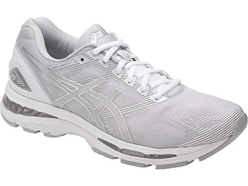 ASICS Mens Gel-Nimbus 19 Running Shoe, Glacier Grey/Silver/White, 10 Medium US