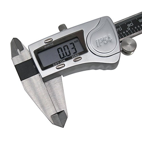 Digital Vernier Caliper IP54 Made of Hardened Stainless Steel Large LCD Screen-6''/150mm-Auto Off Provides Precision Measurement in Inches and Metric Easy to Read and Use by TWIDEC