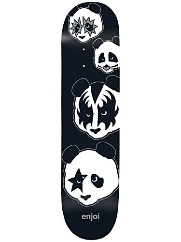 (Enjoi Kiss Logo R7 Skateboard Deck,8.0,Black)