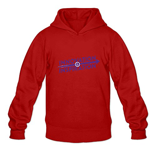 Men's Innovation Inspiration Logo Sports Fashion Blank Hooded Sweatshirt Red (Kevin And Frankie Halloween)