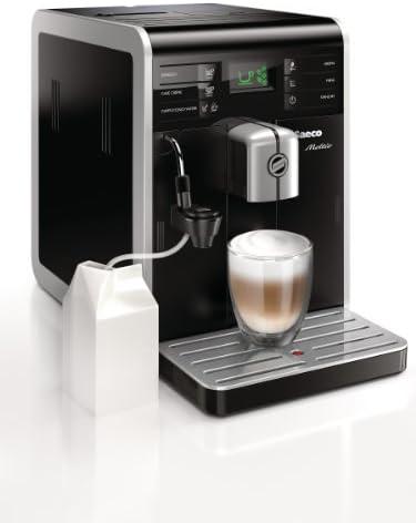 Saeco Moltio - Cafetera espresso super automática, con espumadera de leche clásica, color negro: Amazon.es: Hogar