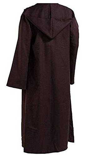 Jedi Womens Costumes (Colorful Polyester Party Hooded Cloak Cape US Size (S, Brown))