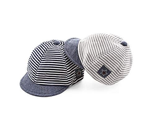 d4f96ccfdfd Casquette enfant Mignon Bébé Star Strip Casquette De Baseball Sun Hat  Enfant Anti UV Casquette Pour 3-12 Mois (Gris Clair) Casquette à la mode   Amazon.fr  ...