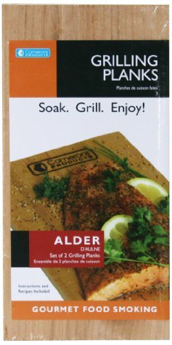 Grilling Planks - Set of 2 Alder Wood Grill Planks with Recipes - Thicker for Longer Use (Wood Packaging compare prices)