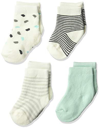 Petit Lem Baby 2-Pack Socks, Organic Cotton, Adorable and Soft, light green, 6M/9M