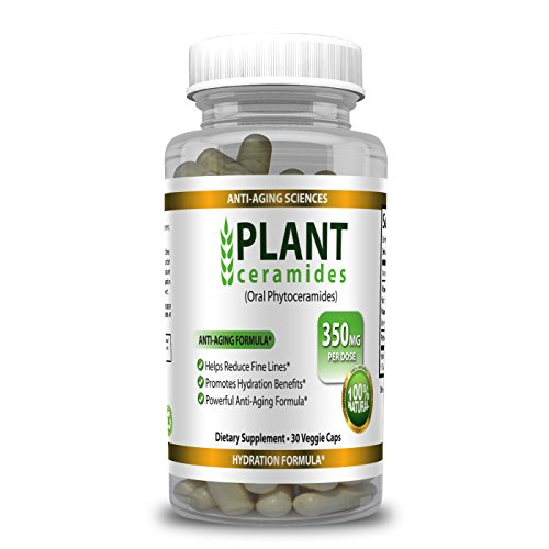 PlantCeramides 350mg, PhytoCeramides Supplement | Plant Derived and GMO free with No Fillers or Synthetic Vitamins | 30 Capsules, Made in USA