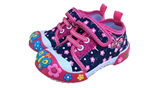 Tennis Shoe Boots For Girls (Chulis Baby Toddler Girl Pink Denim Fashion Sneakers Shoes)