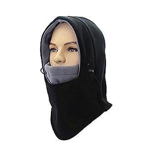 Taball Lightweight Balaclava Windproof Ski Face Mask For Men, Women and Children, Soft Warm Fleece Ear-Flap Winter Hat/Hood For Outdoor Sports