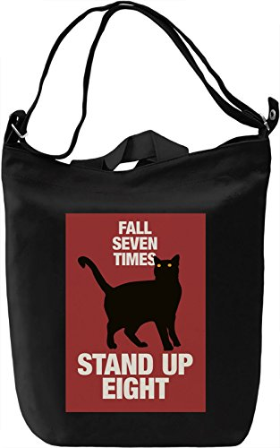 Fall 7 times Borsa Giornaliera Canvas Canvas Day Bag| 100% Premium Cotton Canvas| DTG Printing|
