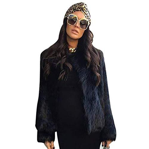 Femme Fourrure Blouson Fashion Automne Hiver Oversize Faux Cuir Manteau Elgante Court Vintage Duveteux Doux breal Confortables Manches Longues Veste en Fourrure Manteau Outerwear De Bonne Qualit Schwarz