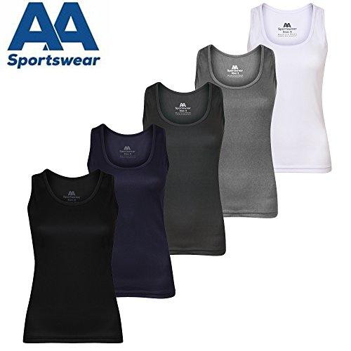 AA SPORTSWEAR - Camisa deportiva - Sin mangas - para mujer negro