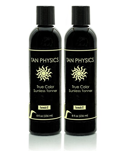Lot of 2 Tan Physics True Color Rated 1 Sunless Self Tanner Tanning Lotion