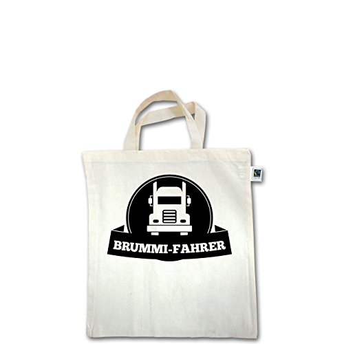 Trucker - Brummi-Fahrer - Unisize - Natural - XT500 - Fairtrade Henkeltasche / Jutebeutel mit kurzen Henkeln aus Bio-Baumwolle