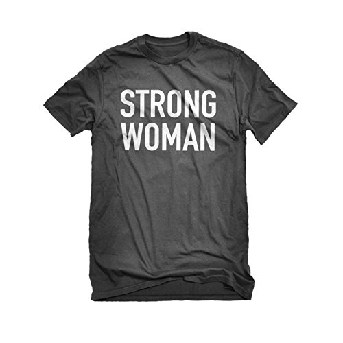 [Mens Strong Woman T-Shirt Charcoal Grey Large] (Patriarchy Costume)