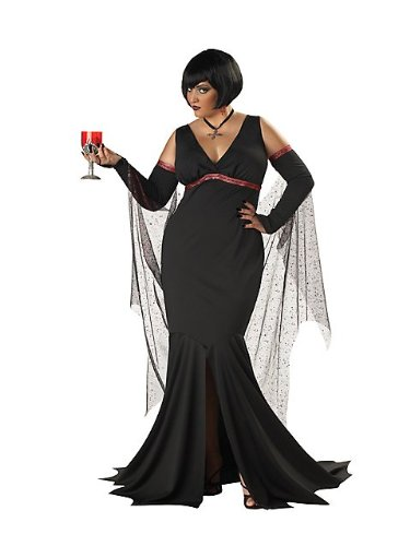 [California Costumes Women's Plus-Size Immortal Seductress Plus, Black, 3X] (Masquerade Costume Plus Size)