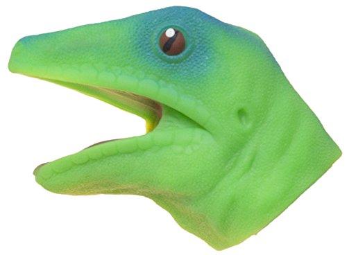 Soft Rubber Realistic 6 Inch Lizard Hand Puppet (Green)