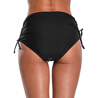 BeautyIn Women's Bikini Bottoms Ruched Swim Bottoms Full Coverage Swim Briefs: Clothing