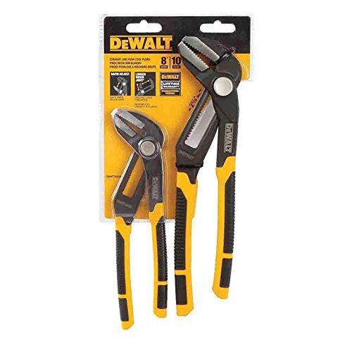 Dewalt 8'' and 10'' Straight Jaw Pushlock Pliers Set by DEWALT