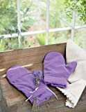 Microwaveable Aromatherapy Lavender Scented Happy Mitts Purple