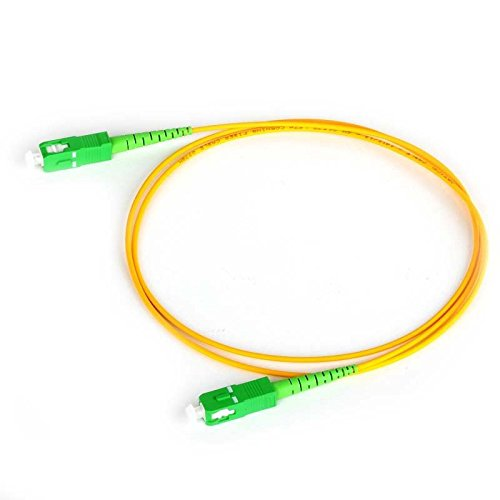 30m SC APC to SC APC Simplex 2.0mm PVC G657A1 Singlemode Bend Insensitive Fiber Patch Cable, Jumper, Patch - Ferrule Zirconia Singlemode Connector