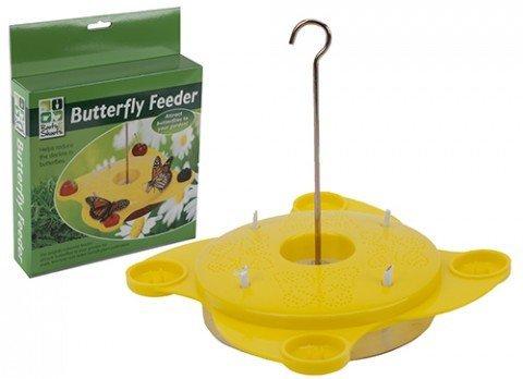 Amarillo Mariposa estación de alimentación alimentador de polinización naturaleza jardín Outdooor alimentos. Butterfly Feeding