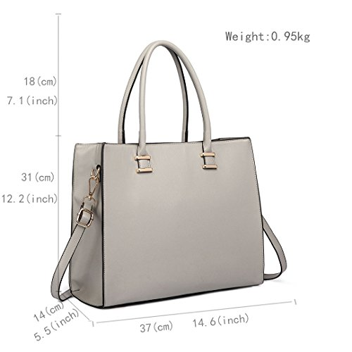 Shoulder Ladies 1509 Women Handbags Lulu Bags Grey Tote Designer Faux Leather Miss gTwpXxqg