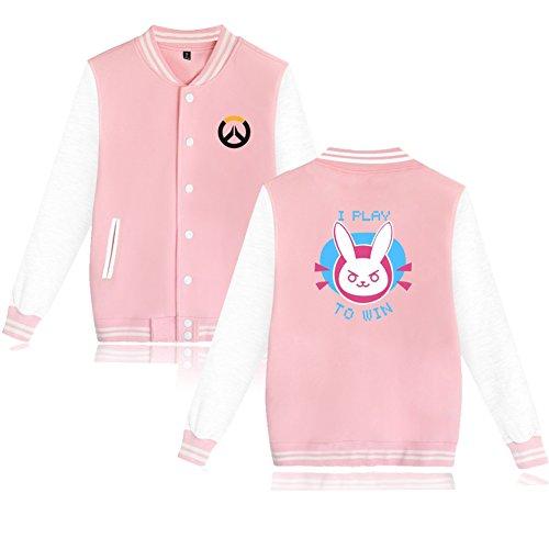TISEA Unisex Couples Baseball Bunny Cosplay Sweatshirt Costume (L, Pink) -