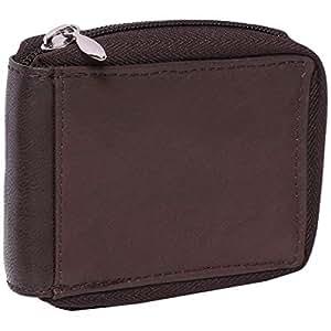 Laveri Genuine Leather Credit Card Holder Wallet 24 Card Holder Wallet for Unisex - Leather, Brown