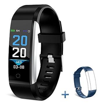 Bonice Fitness Tracker HR, Reloj de Actividad Bluetooth con Monitor de frecuencia Cardíaca, Contador
