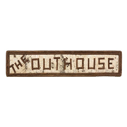 (BLACK FOREST DECOR Rustic House Wall Sign Home Décor Farmhouse Art for Bathroom Kitchen Family Room (Outhouse))