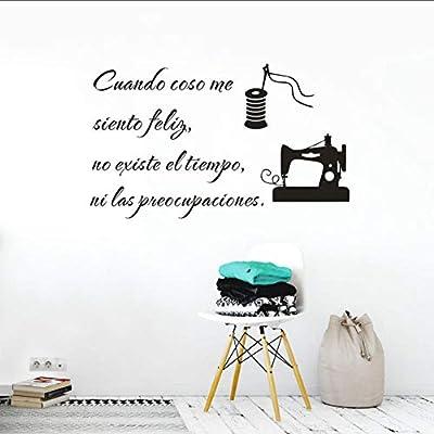 Etiqueta De La Pared Calcomanía De Vinilo De Textos De Costura ...