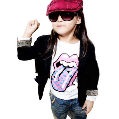 Zehui Kids Girls Cotton Fit Casual Jackets Suits Blazers Candy Color 2-7Y