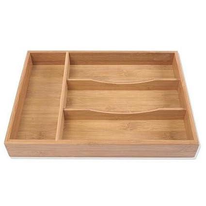 Maison Futée - Organizador para cubiertos (madera de bambú ...