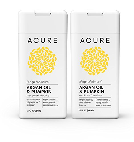 Biodegradable Shampoo Conditioner (Acure Mega Moisture Shampoo & Conditioner - Argan Oil & Pumpkin, 12 Fluid Ounces)