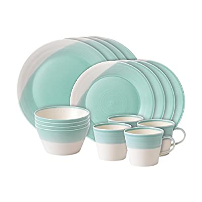 Royal Doulton Aqua 1815 Collection 16 Piece Plate/Tray/Bowl Set - Dishwasher Safe Microwave Safe 1815 Collection - kitchen-tabletop, kitchen-dining-room, dinnerware-sets - 41%2B31iWPs6L. SS400  -