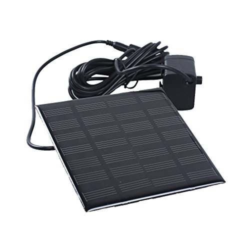 A-szcxtop solar-powered Decorative panel Fountain pump for Pool Garden Watering by A-szcxtop