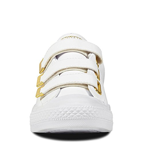 3v Ox Fitness Ctas Chuck Da Synthetic white 102 gold Taylor Scarpe Donna Converse Bianco white RTxZnT