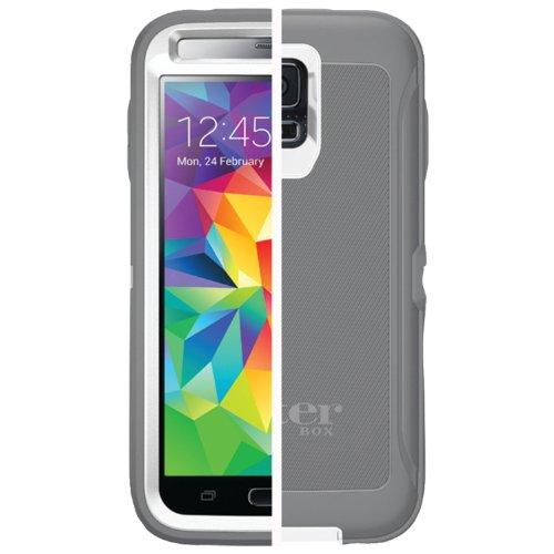 New Otterbox Defender Case (Otterbox Defender Series Samsung Galaxy S5 Case, Retail Packaging, White/Gunmetal Grey)