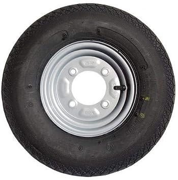 leisure MART 400 x 8 Inch Remolque Rueda y neumático con neumáticos de 4 Capas y