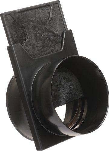 Loc-Line Anti-Static Vacuum Hose Component, Black Acetal Copolymer, Slide Valve, 2-1/2'' Hose ID by Loc-Line