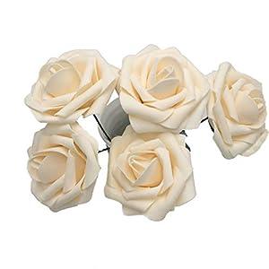50 pcs Artificial Flowers Foam Roses for Bridal Bouquets Wedding Centerpieces Kissing Balls 3