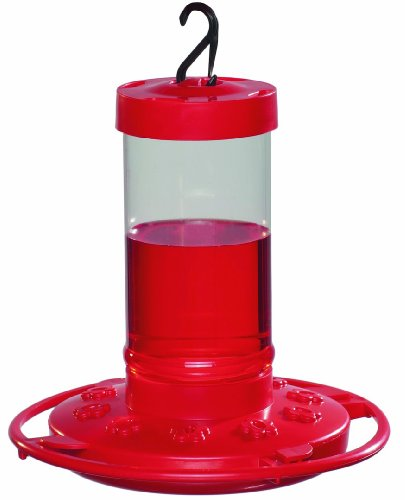 (First Nature 993051-546 16 oz. Hummingbird Feeder, Red )