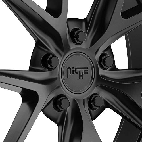 Black Rhino MADNESS Black Wheel with Painted Finish (17 x 9. inches /8 x 170 mm, 12 mm Offset)