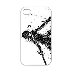 Custom Sword Art Online Case Cover Protector Compatible with iPhone 4 4S 100% TPU (Laser Technology)