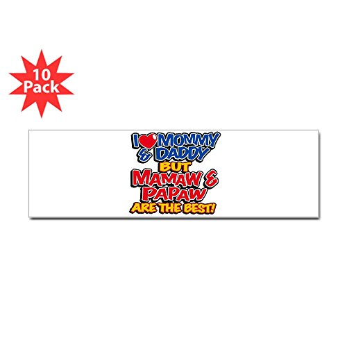 Bumper Sticker (10 Pack) I Love Mommy Daddy Mamaw Papaw