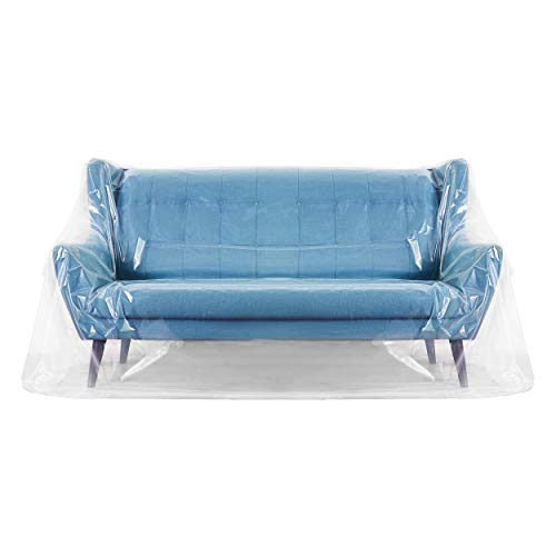 Kenley Pet Sofa Couch Cover - Pet Proof Furniture Protector from Cats & Dogs - Waterproof Clear Plastic Shield Covers for Couch Recliner Love Seat Outdoor Patio Furniture - Cat Claw Scratch Deterrent