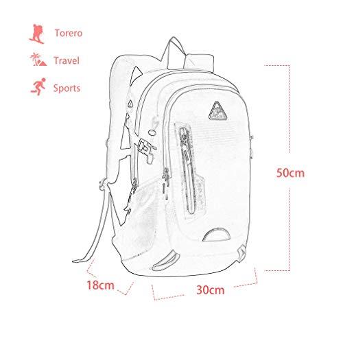 YTYC KIMLEE Male Female Double Shoulder Bag Waterproof Mountaineering Backpack by YTYC (Image #4)