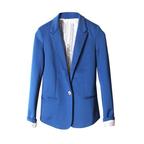 Zacoo Women's OL Style Blazer Casual Size S Color blue