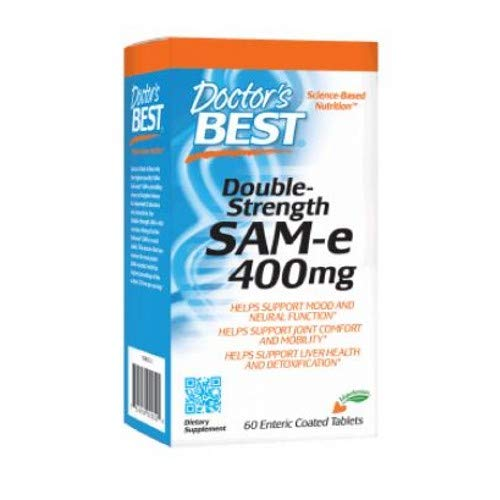 SAM-e 400 mg (Double Strength) 60 Tablets by Doctors Best